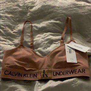 Calvin Klein nude sports bra